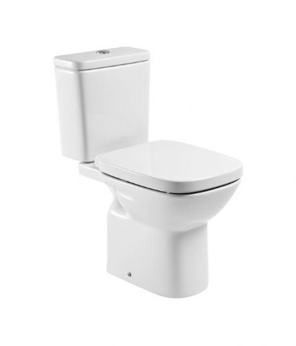 Roca Debba Close Coupled Toilet With Dual Flush Cistern - Soft Close Seat - White